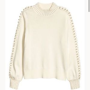 H&M Pearl Beaded Sweater